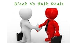 What is block and bulk deals?